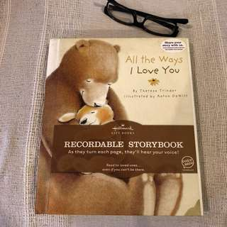 Hallmark recordable storybook featuring Voice Save Technology