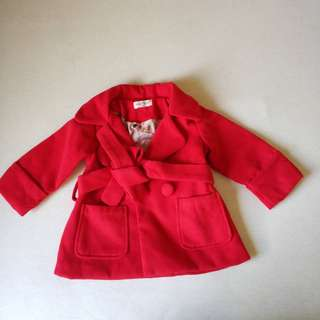 Baby Girl trench coat Winter Jacket woolen coat