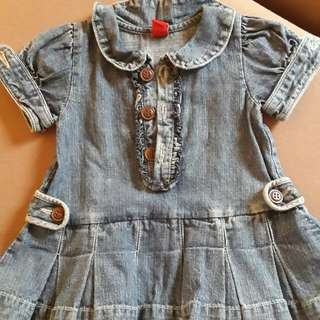 Poney Jeans Gaun for 3-6mths Baby