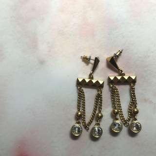 金色民族風吊耳環