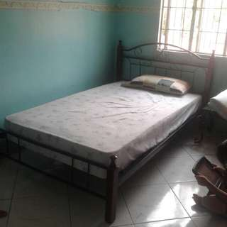 Bed frame with springbed