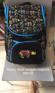 Smiggle school bagpack ready stock new