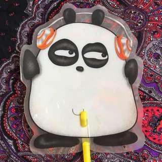 Panda hand fan