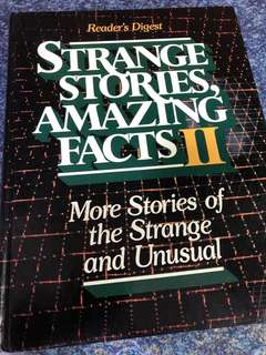 Readers digest strange stories amazing facts 2