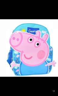 Instock gd quality Peppa pig bag ht 31cm brand new