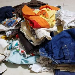 Bundle Of >100pcs Boy Clothes Baby Infant to 2 yrs old
