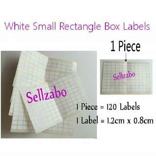 #A 3 Pcs Small White Rectangle Box Labels Stickers Sellzabo Colours Stationery Stationeries