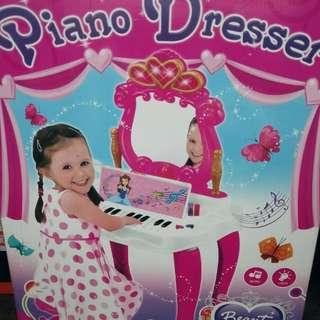 女孩鋼琴化妝檯+男孩工具組