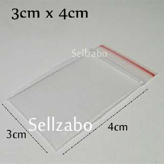 3x4 : 20 Pcs Small Thick Clear Zip Lock Bags Sellzabo Storage Accessories Stationery Stationeries