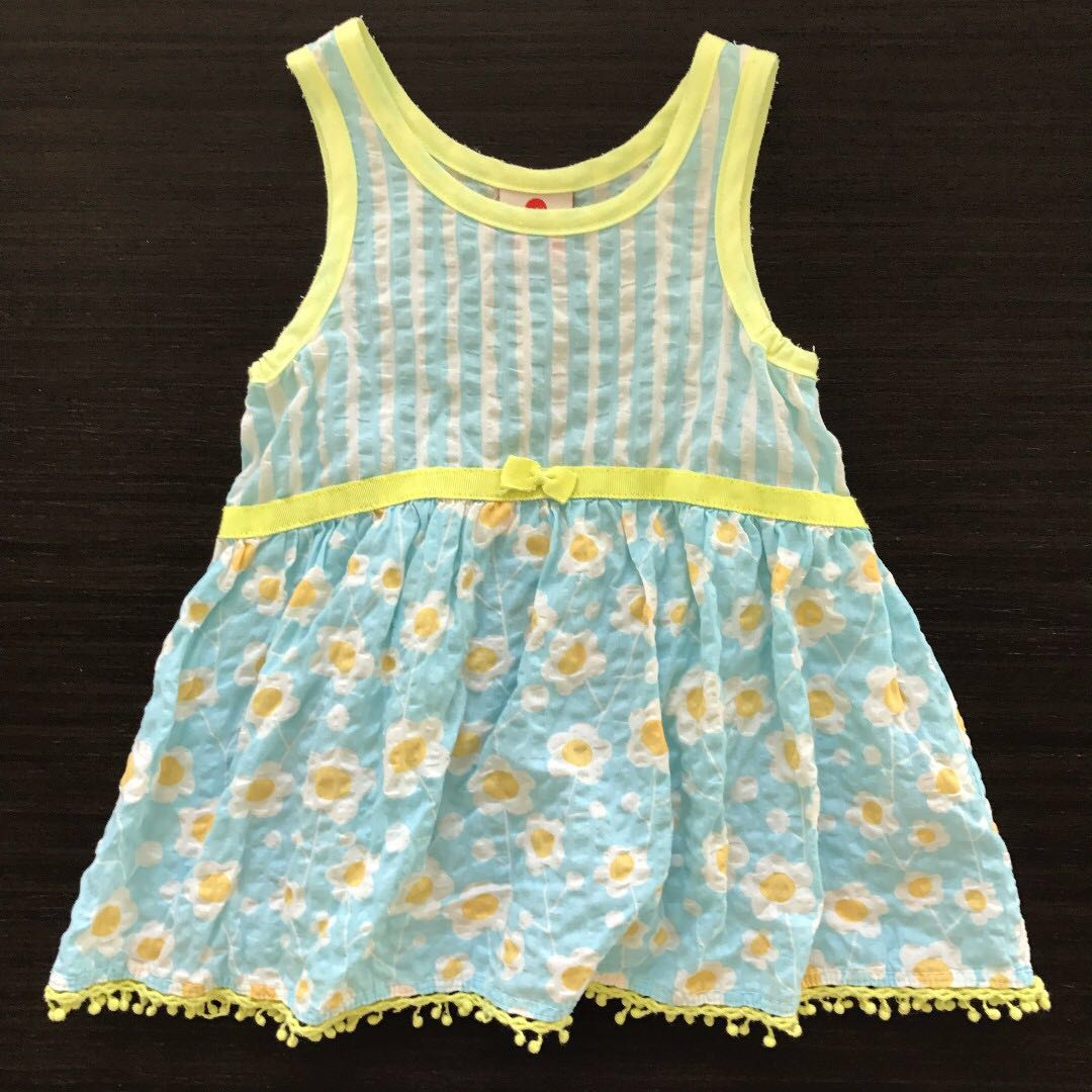 67ac1663e43 80cm Japanese Girls Summer Dress Flower Pompoms