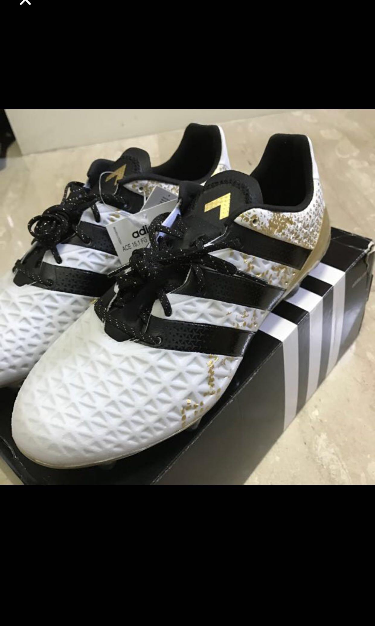 b41fffbe9ff9 Adidas ACE 16.1 FG AG - White Core Black Gold Metallic