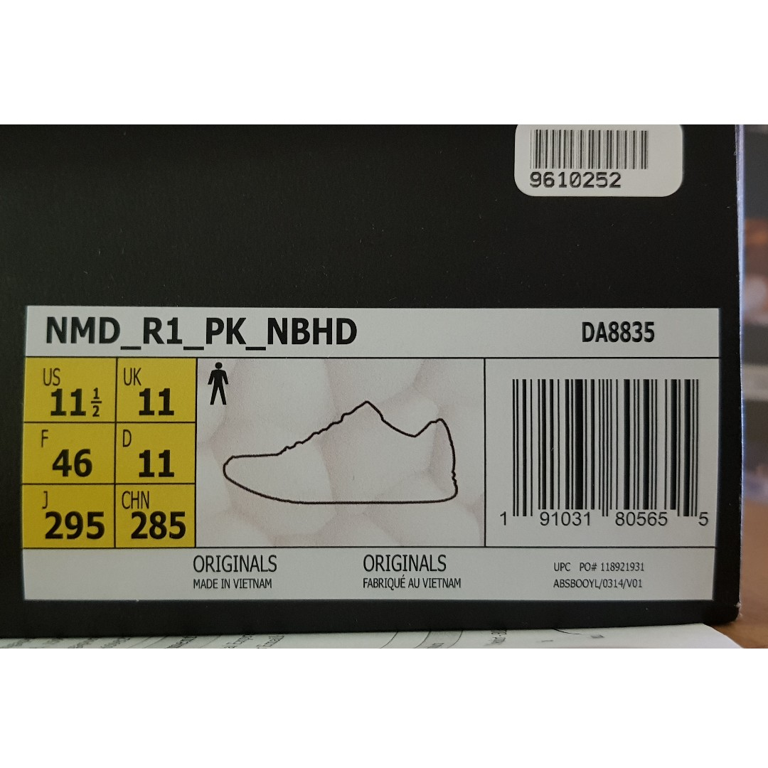 196832317d99d Adidas x Neighbourhood NMD - Black - UK11 (DA8835)