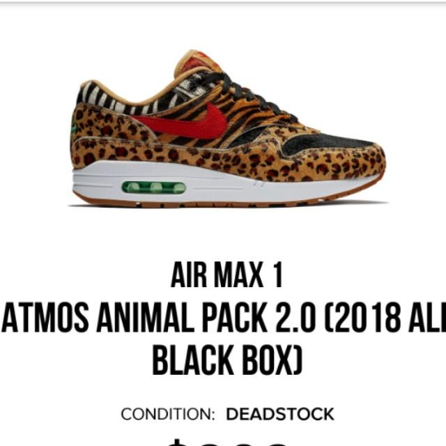 f5371b9717 Air Max 1 Atmos Animal Pack 2.0, Men's Fashion, Footwear, Sneakers ...