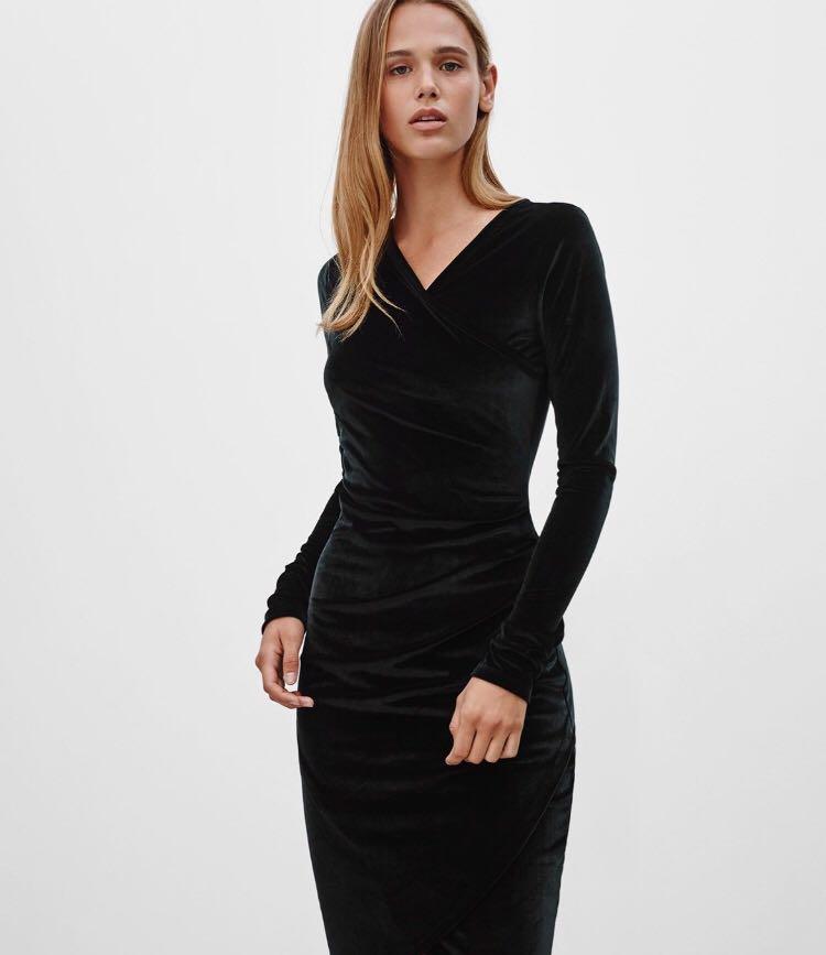 Aritzia Wilfred Free black Lisiere jersey dress XXS