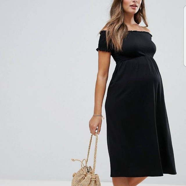 820622acfa ASOS Off Shoulder Maternity Dress on Carousell