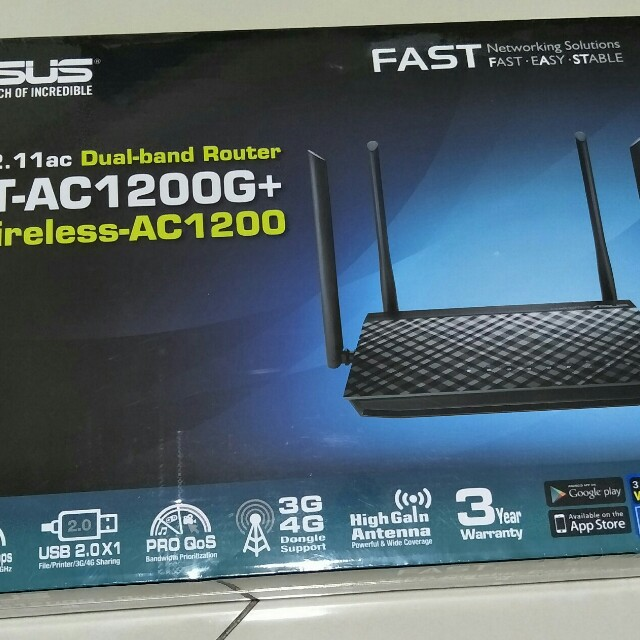 Wireless ROUTER ASUS RT-AC1200G PLUS GIGABIT 3 YEARS SG WARRANTY