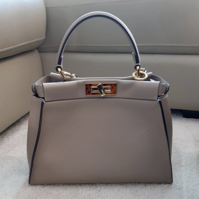 88df7af6c8 Authentic  Fendi Peekaboo Medium (Dove grey)