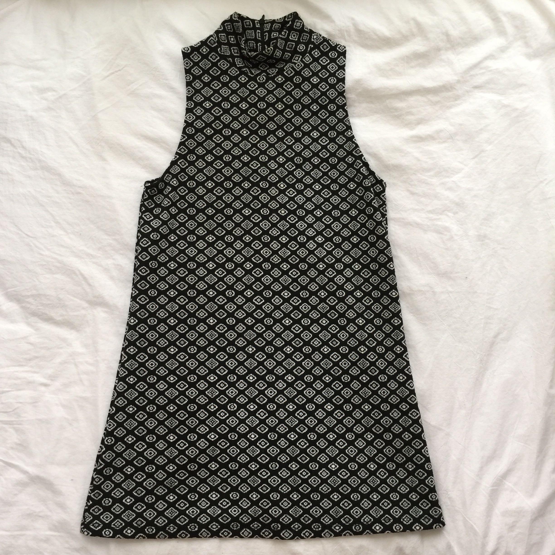 2b05614b Authentic Zara Turtle Neck Pattern Sleeves Knit Dress Tunic Top Size ...