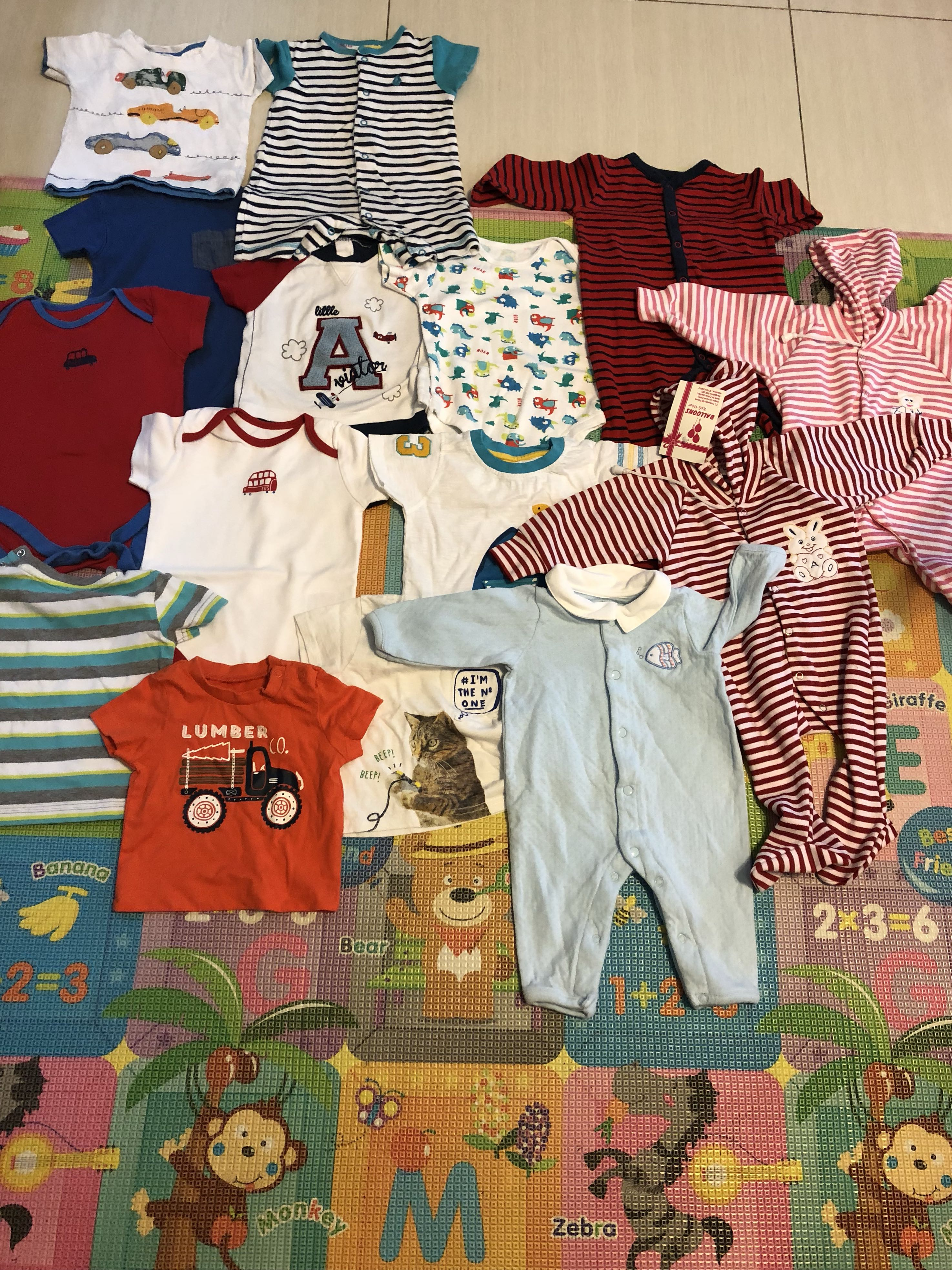 f640ce37 Baby Clothes Bundle mother care , H&M , Zara , other brand, Babies & Kids,  Babies Apparel on Carousell