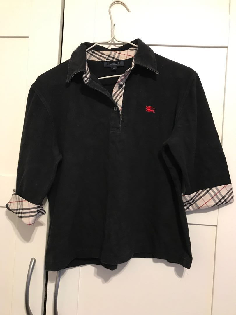 Burberry top polo shirt checkered black blouse dress coat cardigan Ralph Lauren