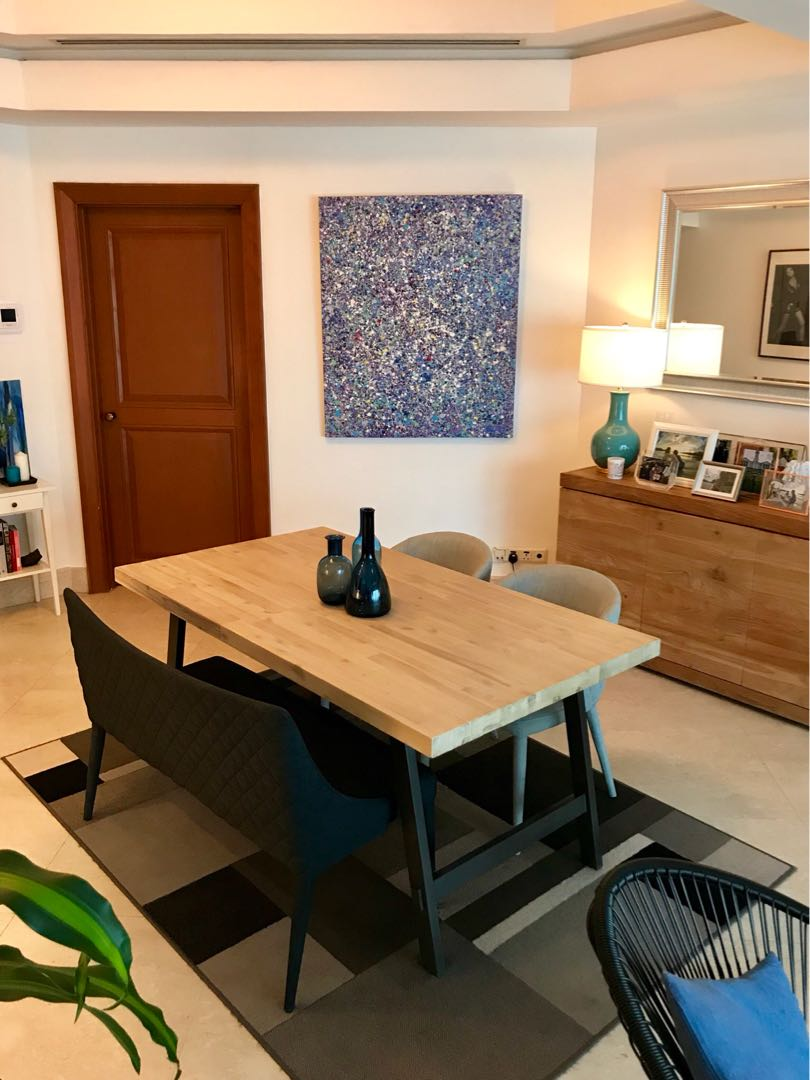 Castlery Dining Table X2 Chairs Bench Furniture Tables On Carousell