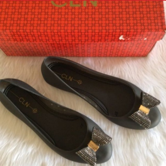 Celine Jelly Black Flats