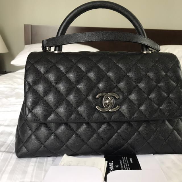 1637ea9f5dfb4a Chanel Coco Handle (small), Luxury, Bags & Wallets on Carousell