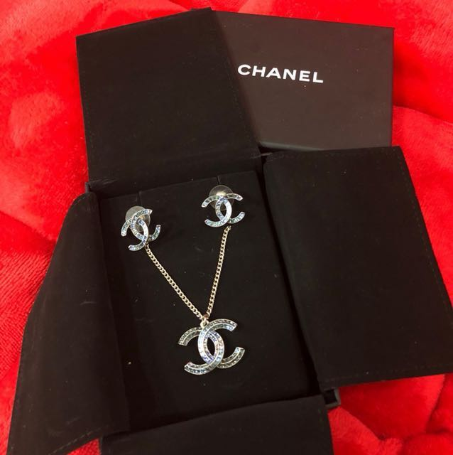 Chanel Limited Edition Necklace Earrings Set Luxury Accessories On Carou