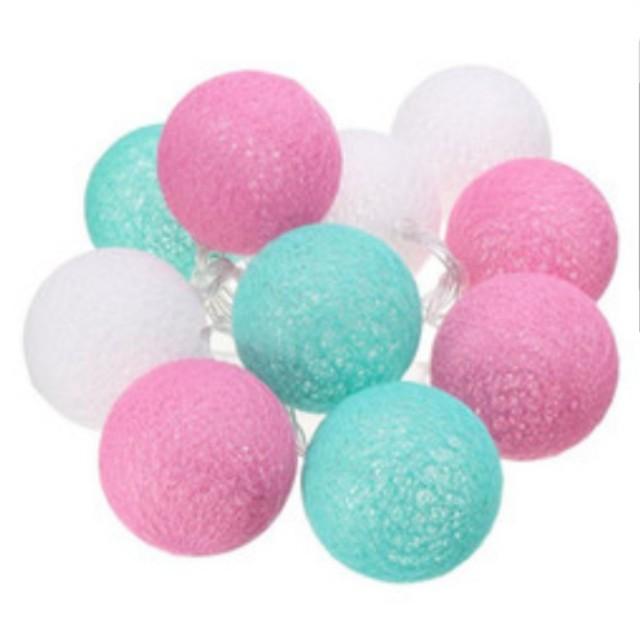 Cotton light balls blue and pink