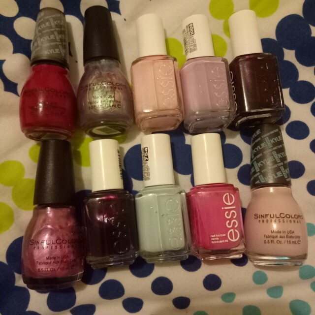 Essie and sinful colors nail polish