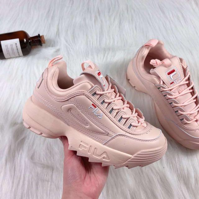 2c2b5e2bade2 Fila Disruptor II 2 Sneakers Low-Top Pink Women Shoes Shoe  Fesyen50 ...