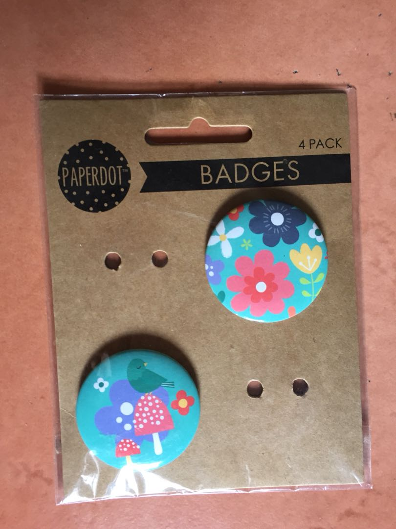Flower badges from Perth, Australia