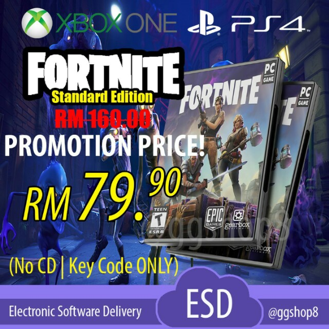 FORTNITE STANDARD EDITION KEY CODE FOR PC GAME/XBOX ONE/PS4 (ON HOLD