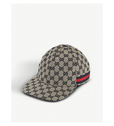 4282a374e87 Gucci Baseball Cap (Beige with blue red stripes)