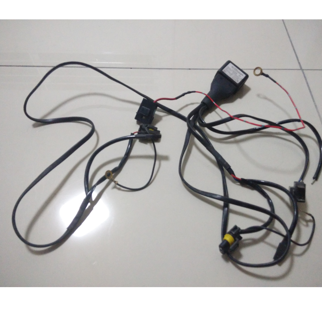 Hid Wiring Harness Pnp H1 H4 Soket No Wires Cut Auto Accessories Wire On Carousell