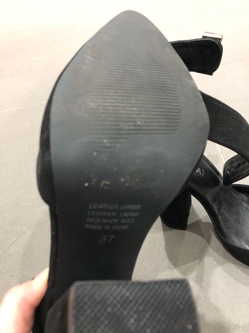 Kookai black heels size 37