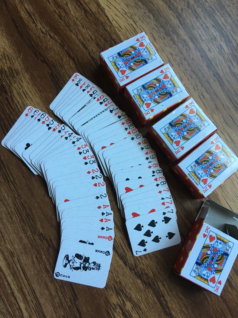 Mini deck of cards