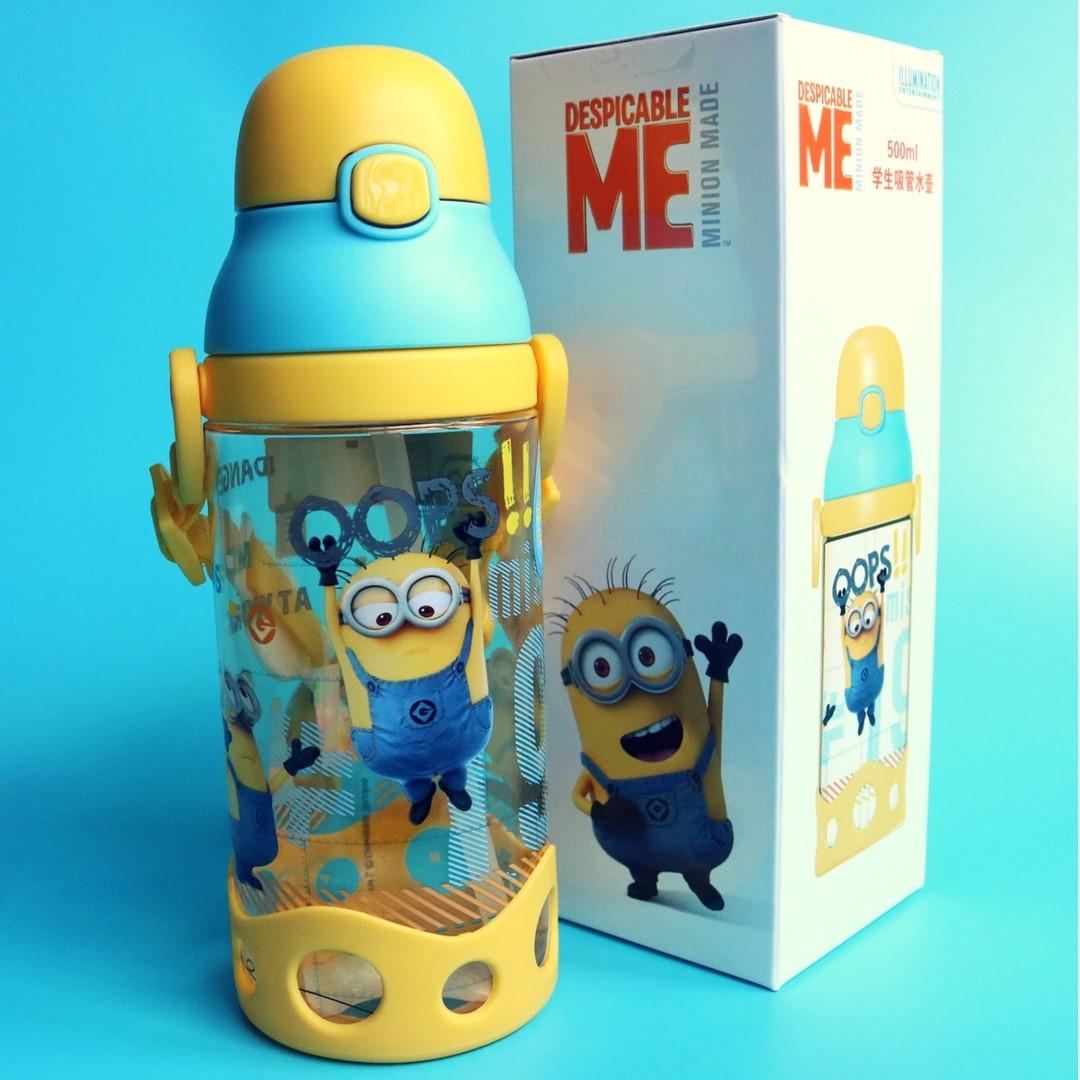 d12f8f94d1 Minions Water Bottle With Straw BPA-Free 500ml, Babies & Kids ...