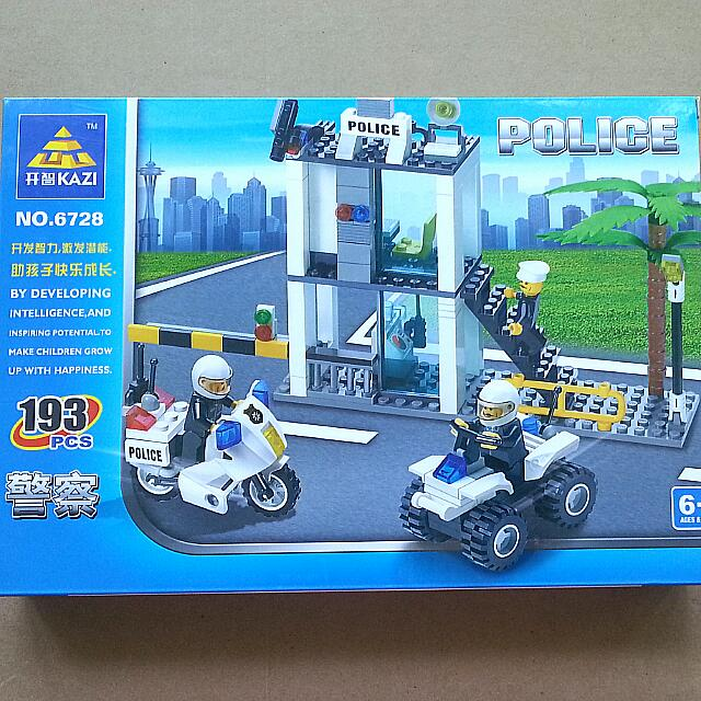 Non-Lego Police Sentry Post And Vehicles Building Blocks Set No ...