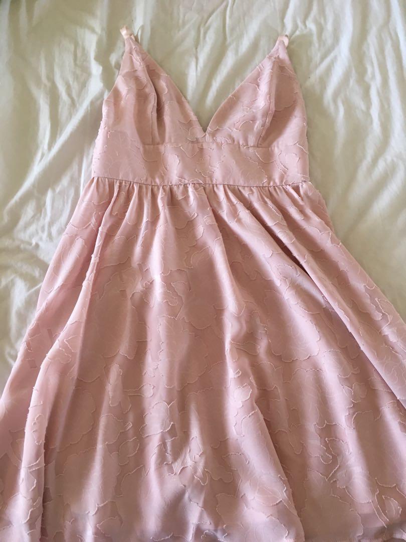 Pale pink formal dress