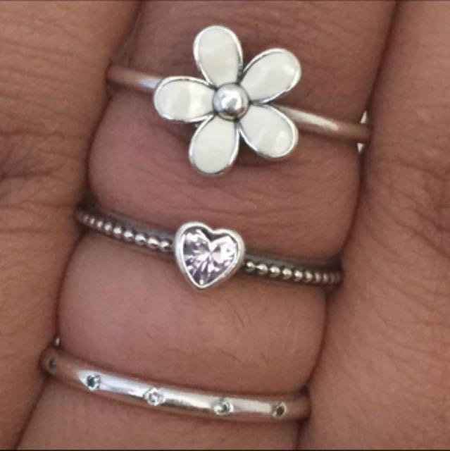 Pandora genuine jewellery rings