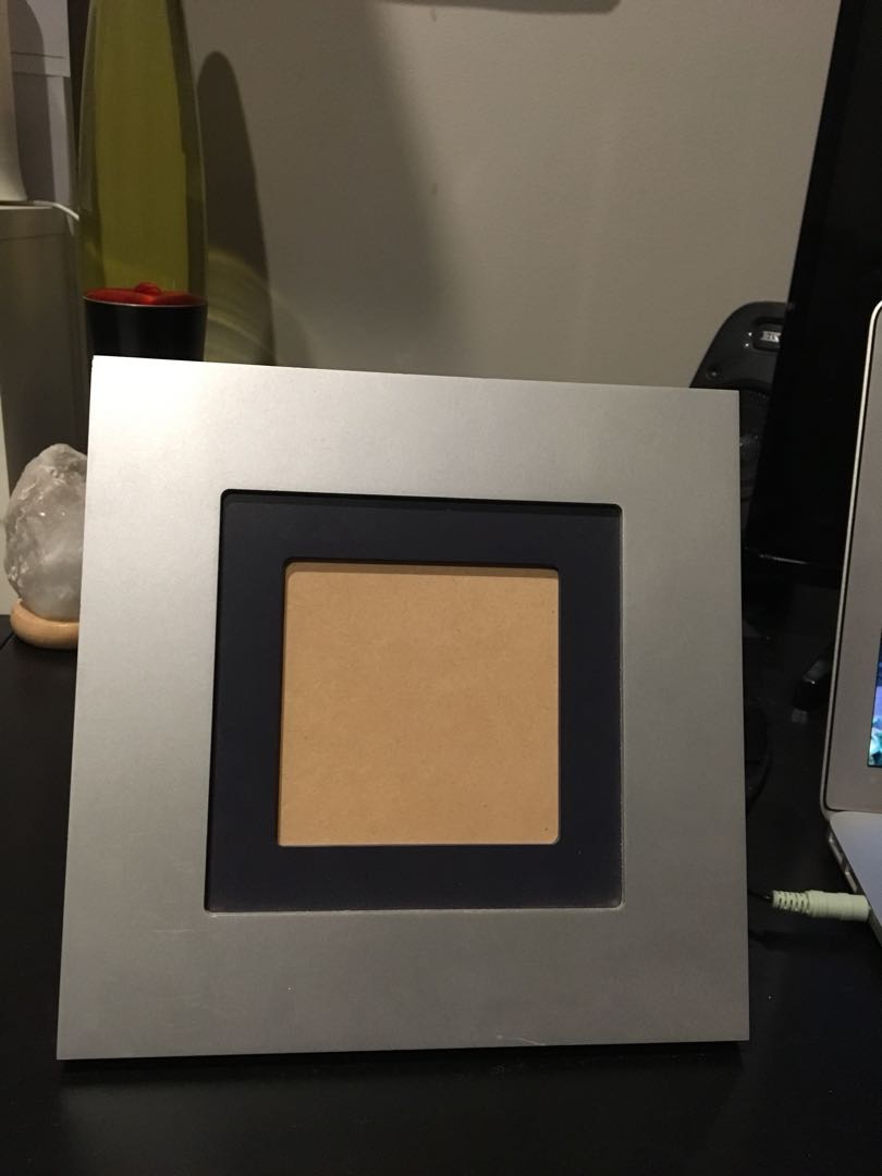 Photo frame two toned - 90mm X 90mm (Squared)