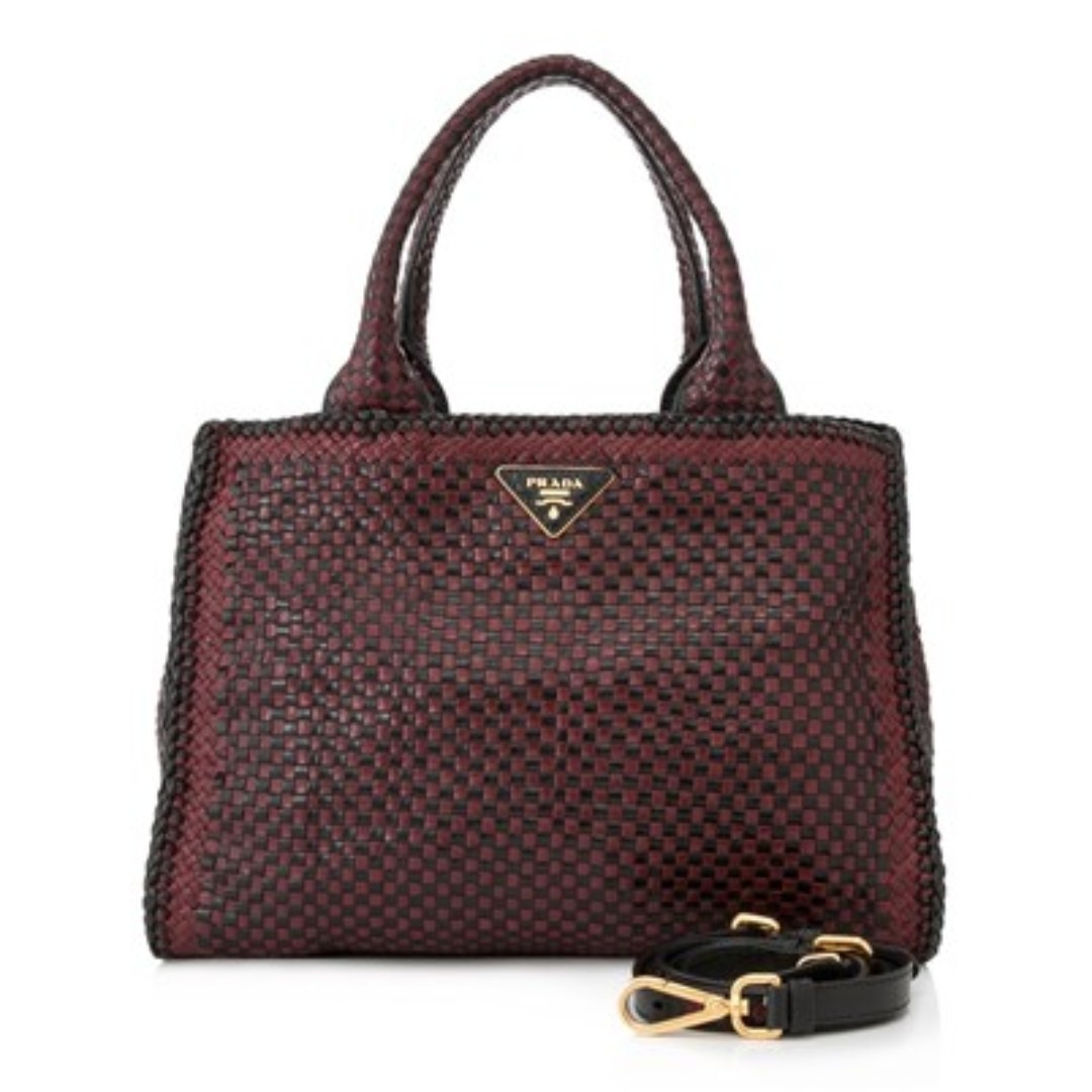 1f1fbd1cd914 Pre-Owned Prada Madras Shopping Bag - PRISTINE  price drop to  900 ...