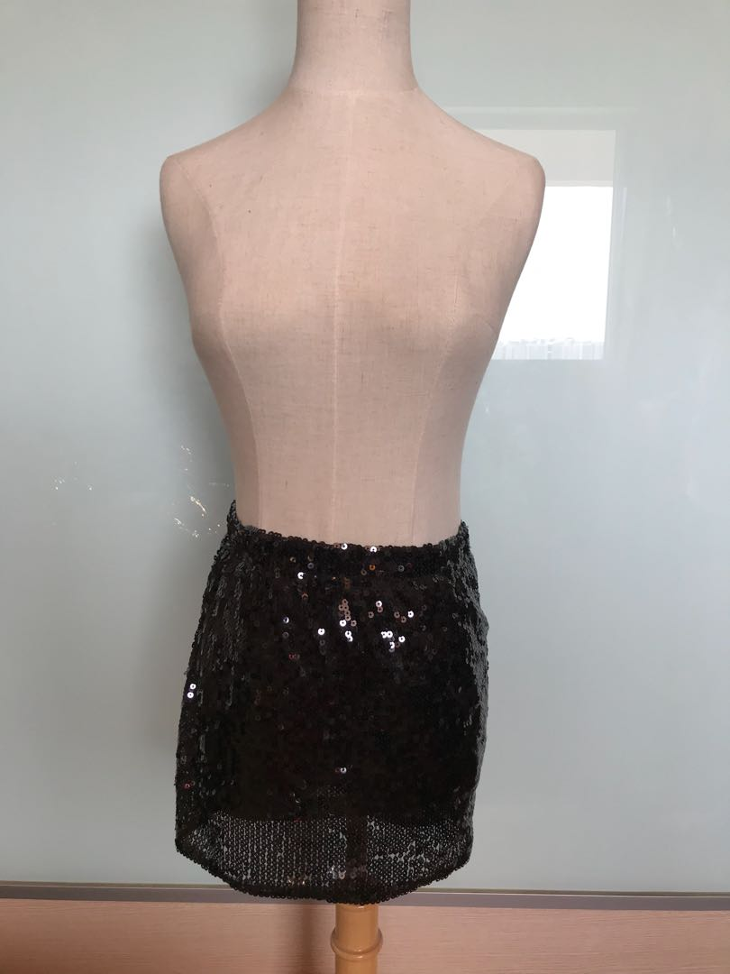 4fa97f2250 Shimmer bling black Tube Top and skirt