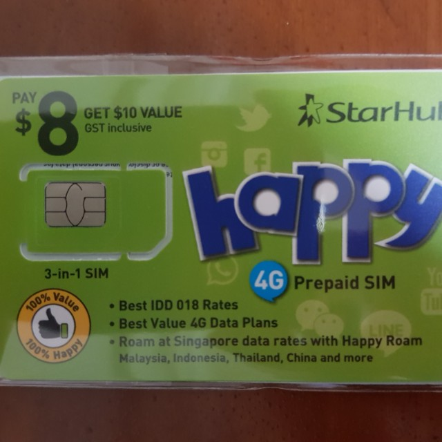 StarHub happy 4G Prepaid SIM Card, Mobile Phones & Tablets