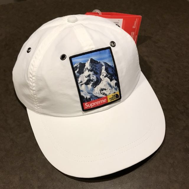 df9e00ac Supreme North Face Mountain 6-Panel Hat - White, Men's Fashion, Accessories  on Carousell
