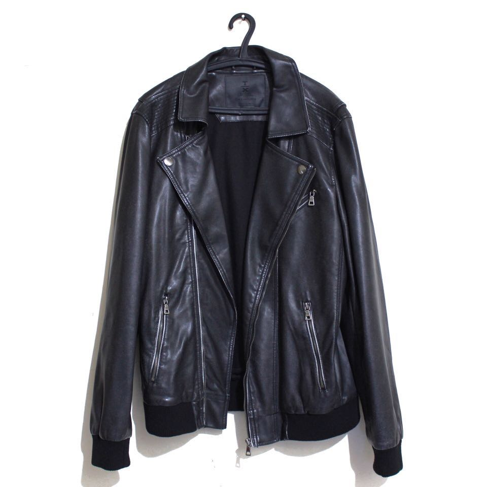 THE EXECUTIVE Synthetic Leather Jacket