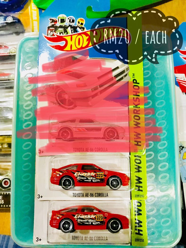 Toyota Ae86 Toys Games On Carousell Hotwheels Ae 86 Corolla Red Photo