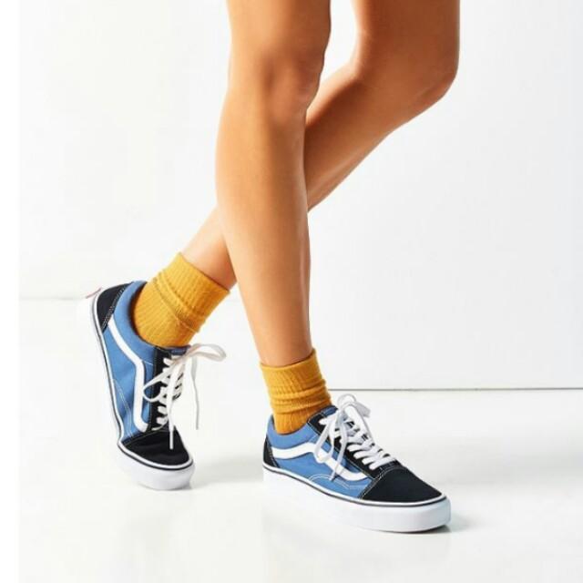 VANS OLD SKOOL OLDSKOOL Navy black canvas sneakers Sz AU 7 / EUR 38 NEW