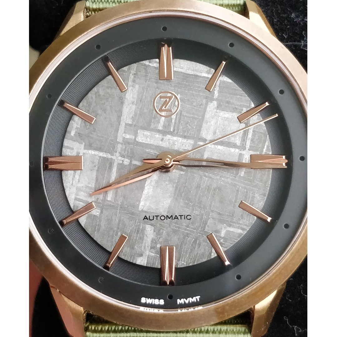 aa0859749db Zelos Visionary V-2 Bronze with Meteorite Dial